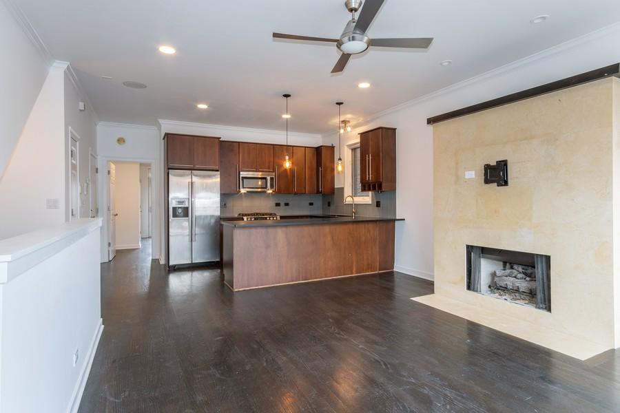 Real Estate Photography - 1644 W Blackhawk #1E, Chicago, IL, 60622 - Kitchen / Living Room