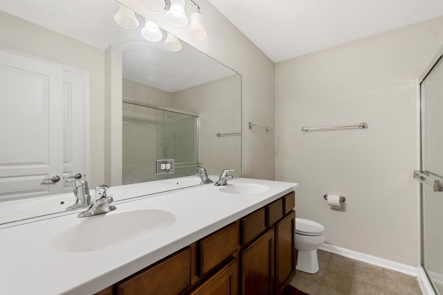 Real Estate Photography - 347 Devoe Drive, Oswego, IL, 60543 - Master Bathroom