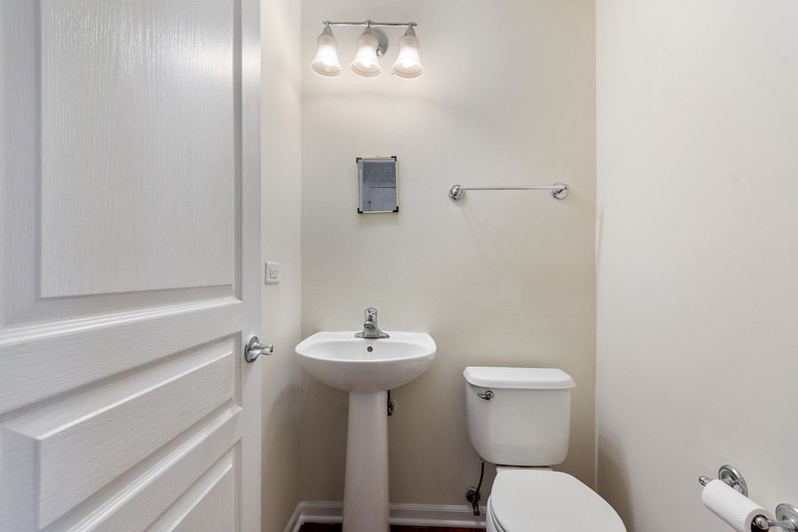 Real Estate Photography - 347 Devoe Drive, Oswego, IL, 60543 - Half Bath