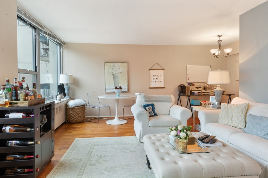 Real Estate Photography - 1255 N Sandburg Terrace, Unit 410, Chicago, IL, 60610 - Living Room / Dining Room