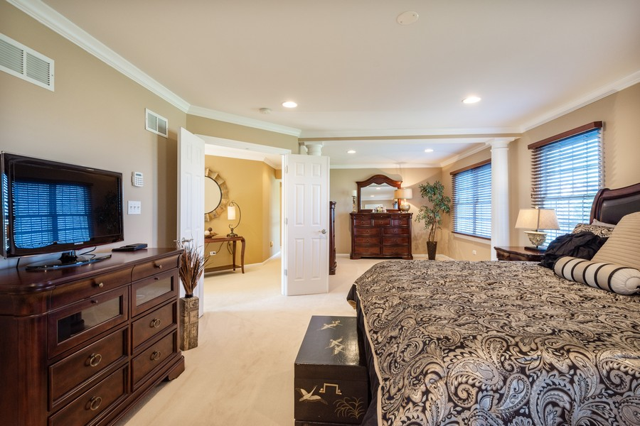 Real Estate Photography - 45 Tournament Dr North, Hawthorn Woods, IL, 60047 - Master Bedroom w/ Sitting Room