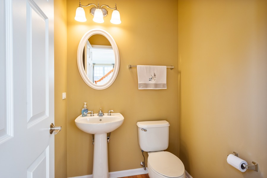 Real Estate Photography - 45 Tournament Dr North, Hawthorn Woods, IL, 60047 - Powder Room