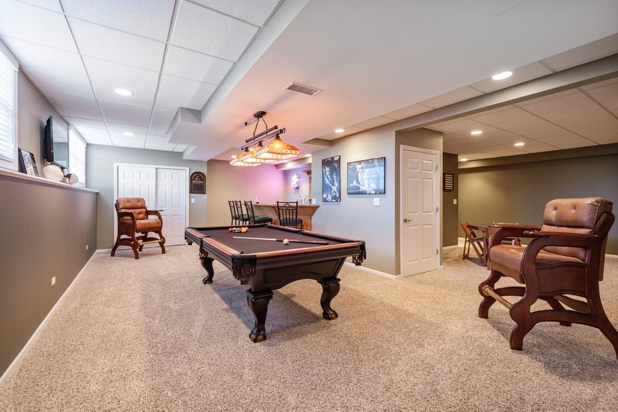 Real Estate Photography - 45 Tournament Dr North, Hawthorn Woods, IL, 60047 - Game Room - Basement
