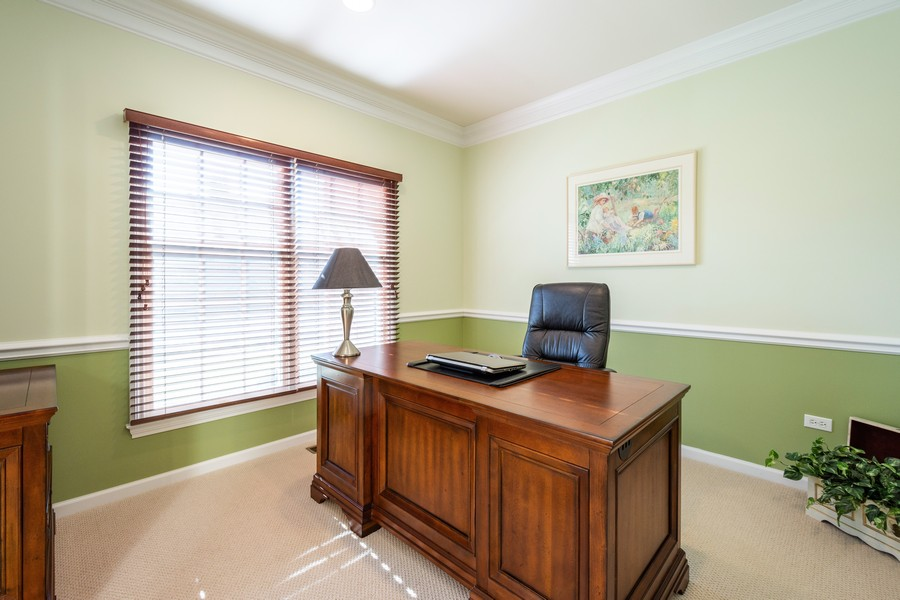 Real Estate Photography - 45 Tournament Dr North, Hawthorn Woods, IL, 60047 - Office