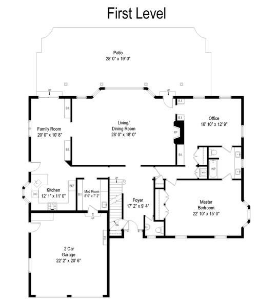 Real Estate Photography - 1033 Illinois Rd, Wilmette, IL, 60091 - Floor Plan