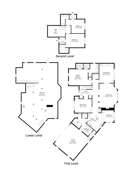 Real Estate Photography - 50 E Mallard Ln, Lake Forest, IL, 60045 - Floor Plan