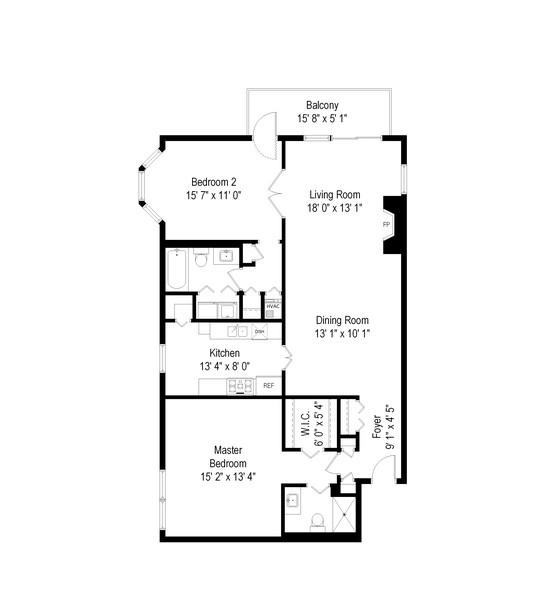 Real Estate Photography - 1730 Hinman Ave, #3G, Evanston, IL, 60201 - Floor Plan