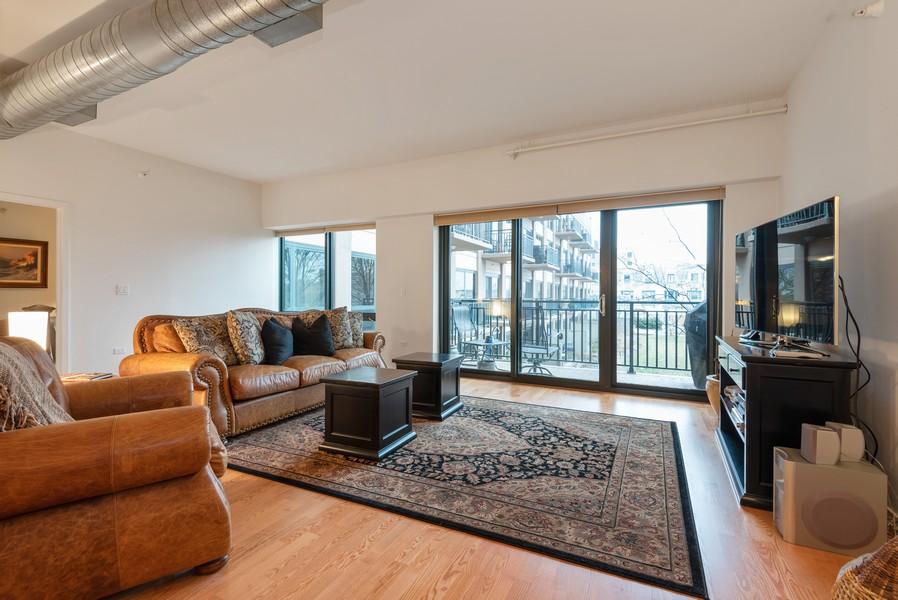 Real Estate Photography - 807 Davis Street, Unit 409, Evanston, IL, 60201 - Living Room