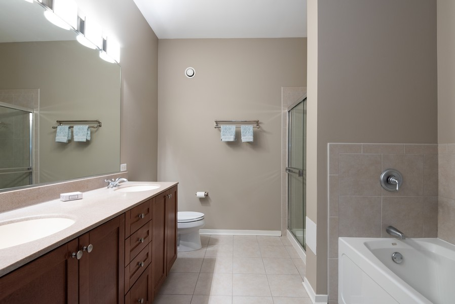 Real Estate Photography - 807 Davis Street, Unit 409, Evanston, IL, 60201 - Master Bathroom