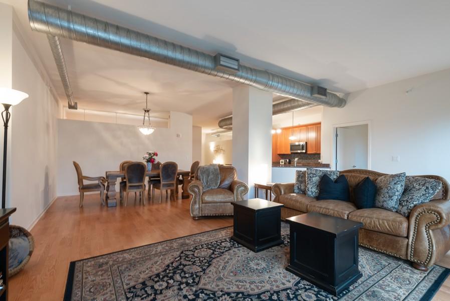 Real Estate Photography - 807 Davis Street, Unit 409, Evanston, IL, 60201 - Living Room / Dining Room