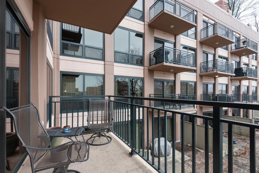 Real Estate Photography - 807 Davis Street, Unit 409, Evanston, IL, 60201 - Balcony