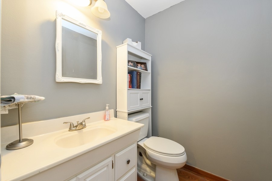 Real Estate Photography - 1345 Northhampton Lane, Roselle, IL, 60172 - First Floor Powder Room