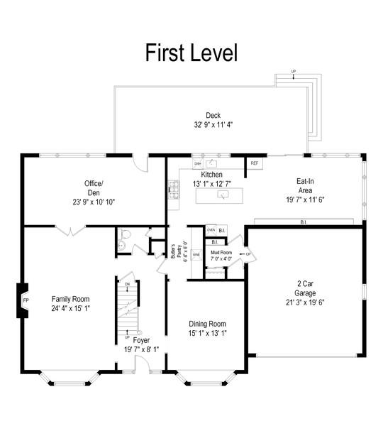 Real Estate Photography - 1136 Skokie Ridge Dr, Glencoe, IL, 60022 - Floor Plan