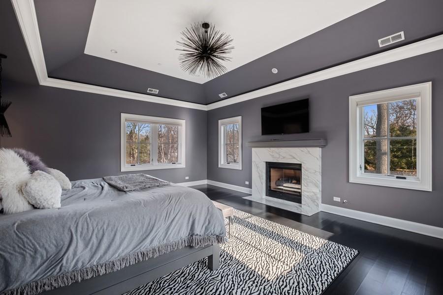 Real Estate Photography - 905 Oak Dr., Glencoe, IL, 60022 - Master Bedroom