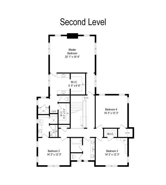 Real Estate Photography - 905 Oak Dr., Glencoe, IL, 60022 - Floor Plan
