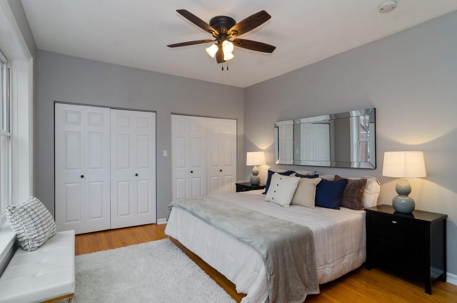 Real Estate Photography - 5000 N Glenwood #2, Chicago, IL, 60640 - Master Bedroom