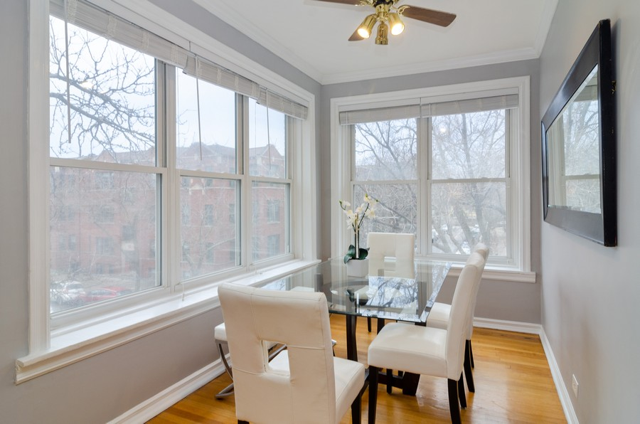 Real Estate Photography - 5000 N Glenwood #2, Chicago, IL, 60640 - Dining Room