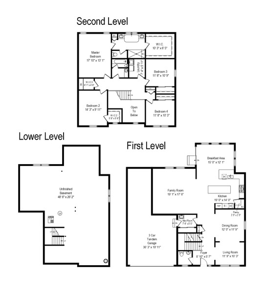 Real Estate Photography - 114 Flint Creek Court, Hawthorn Woods, IL, 60047 - Floor Plan