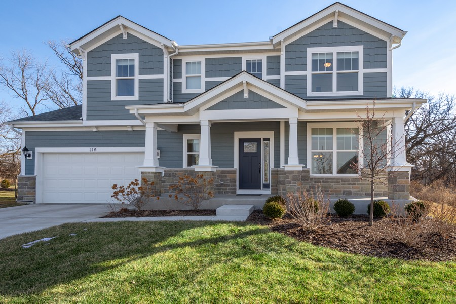 Real Estate Photography - 114 Flint Creek Court, Hawthorn Woods, IL, 60047 - Front View