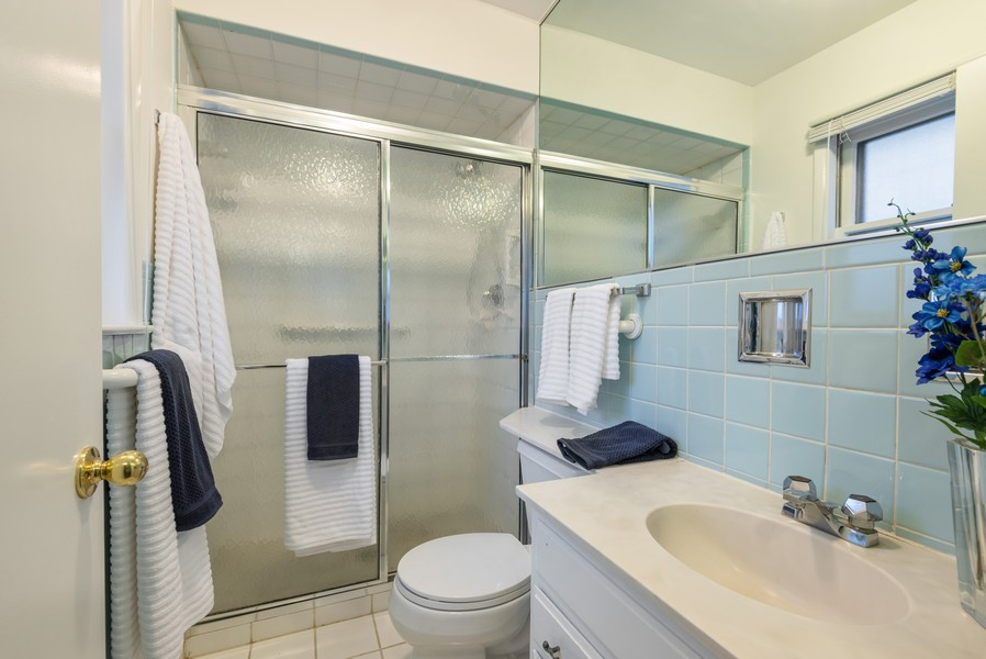 Real Estate Photography - 230 Heather Lane, Wilmette, IL, 60091 - Master Bathroom