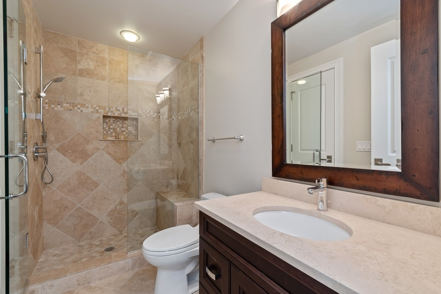 Real Estate Photography - 1001 Woodlawn Road, Glenview, IL, 60025 - 3rd Bathroom