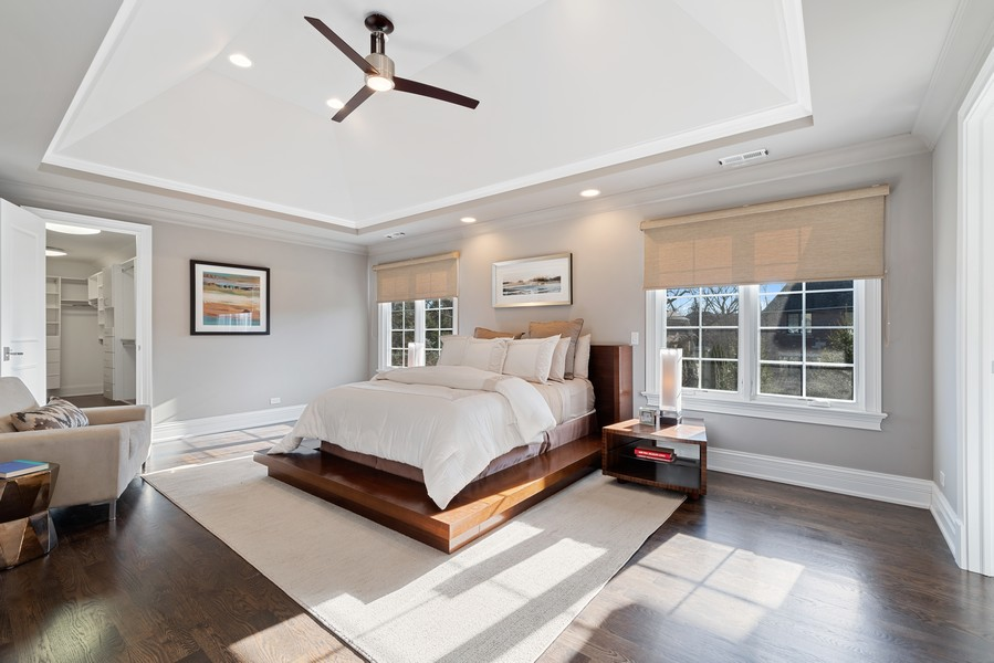 Real Estate Photography - 1001 Woodlawn Road, Glenview, IL, 60025 - Master Bedroom