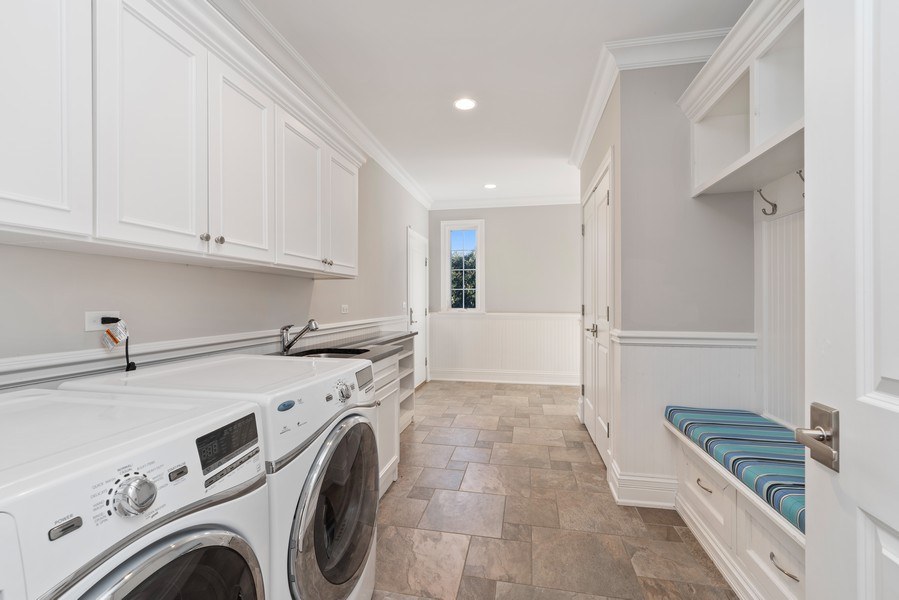 Real Estate Photography - 1001 Woodlawn Road, Glenview, IL, 60025 - Huge Laundry/Mud Room