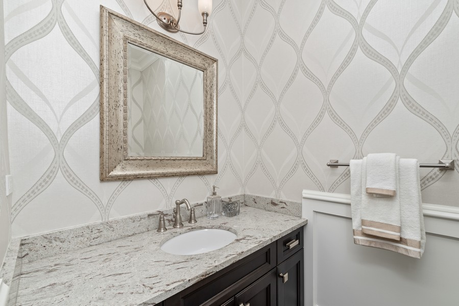 Real Estate Photography - 1001 Woodlawn Road, Glenview, IL, 60025 - Powder Room