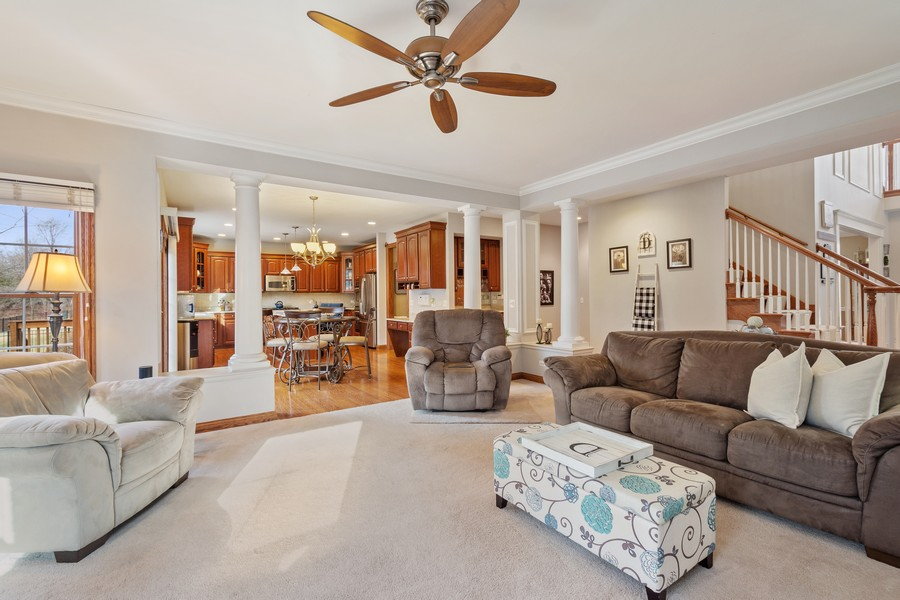 Real Estate Photography - 745 John Ct., Lake Zurich, IL, 60047 - Family Room