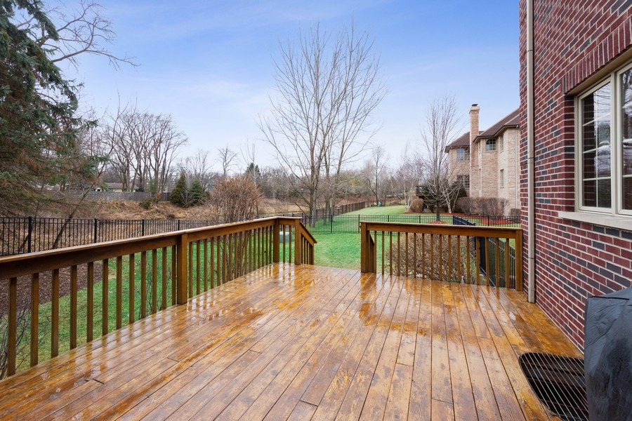 Real Estate Photography - 745 John Ct., Lake Zurich, IL, 60047 - Deck