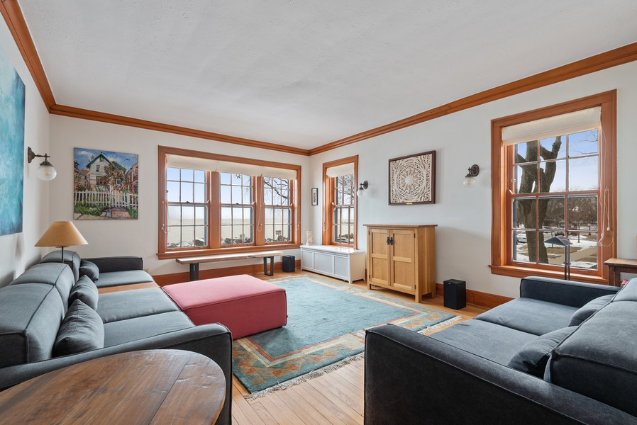 Real Estate Photography - 602 Sheridan Square, #1, Evanston, IL, 60202 - Living Room