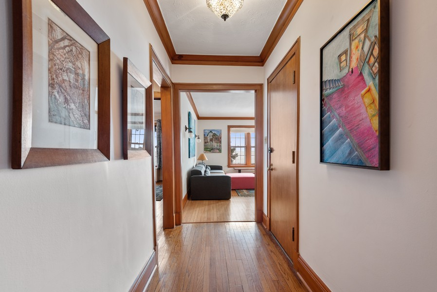 Real Estate Photography - 602 Sheridan Square, #1, Evanston, IL, 60202 - Foyer
