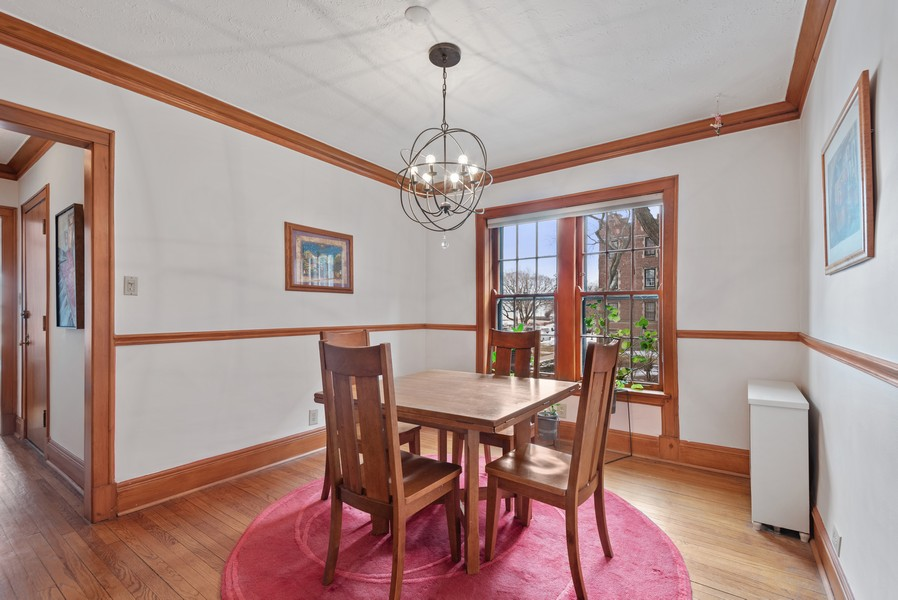 Real Estate Photography - 602 Sheridan Square, #1, Evanston, IL, 60202 - Dining Room