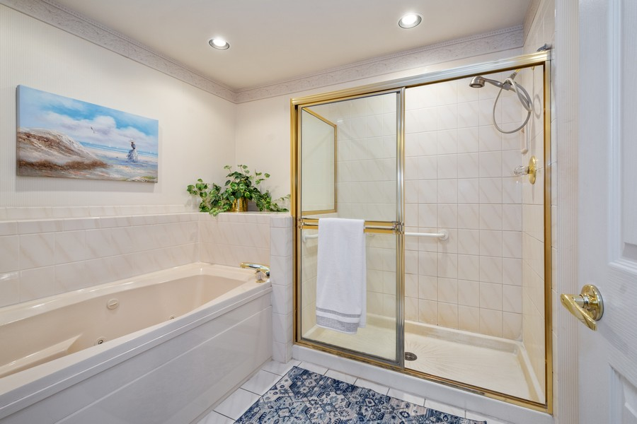 Real Estate Photography - 117 Cornell, Glenview, IL, 60026 - Master Bathroom