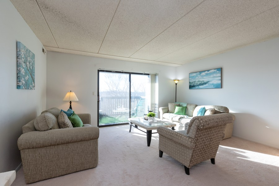Real Estate Photography - 920 Vose, Apt 608, Gurnee, IL, 60031 - Living Room