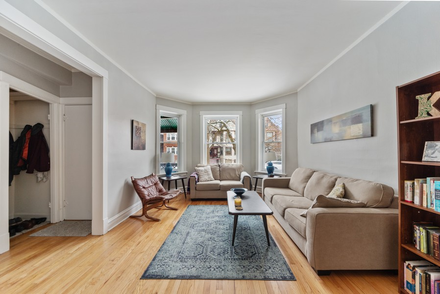 Real Estate Photography - 3832 North Central Park, Chicago, IL, 60618 - First Floor Living Room