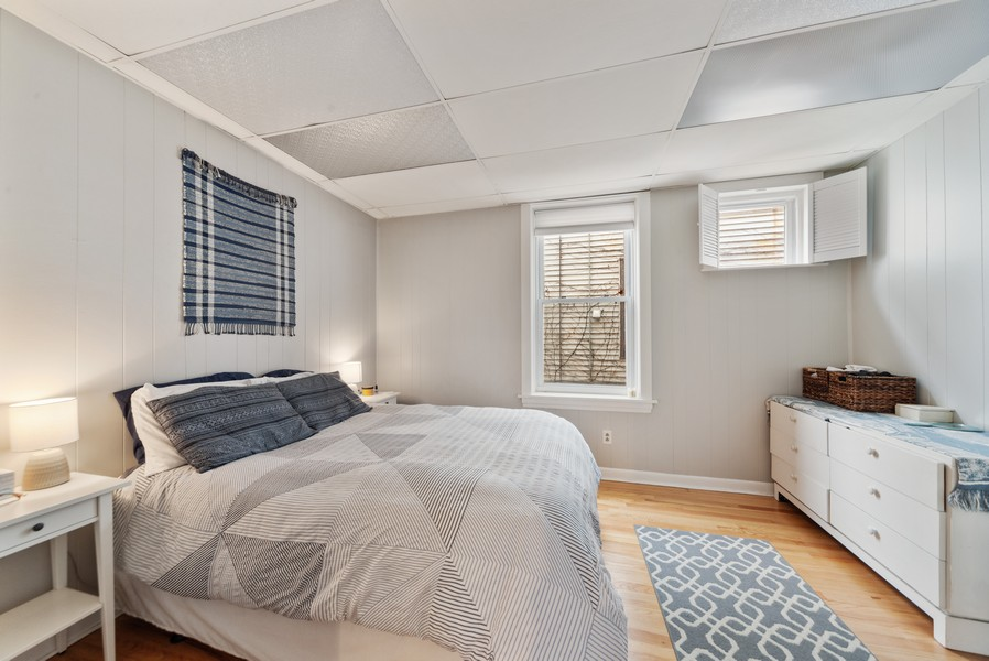Real Estate Photography - 3832 North Central Park, Chicago, IL, 60618 - First Floor Master Bedroom