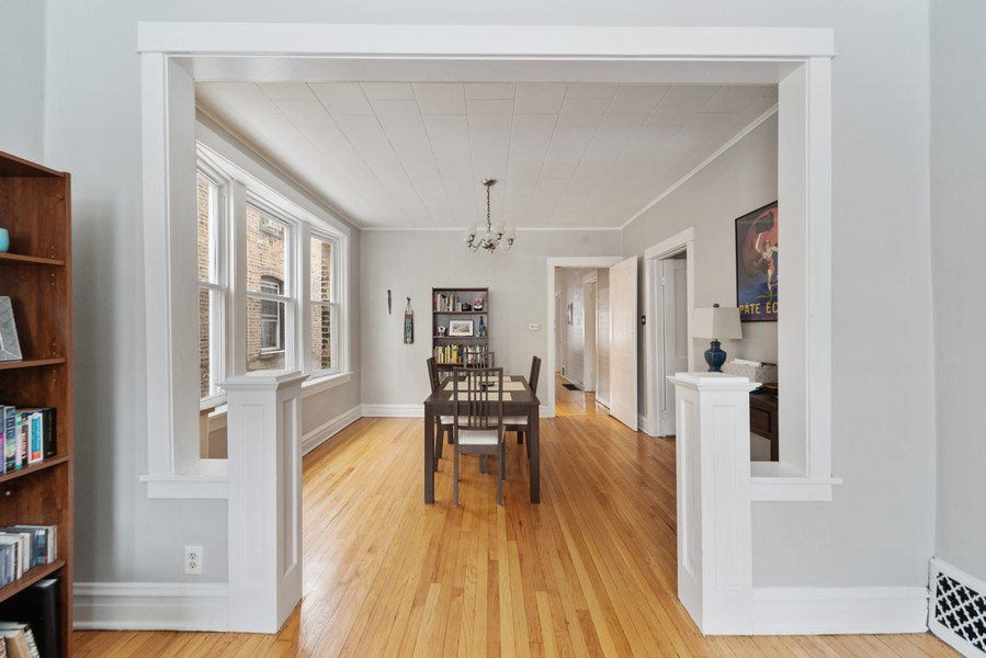 Real Estate Photography - 3832 North Central Park, Chicago, IL, 60618 - First Floor Dining Room