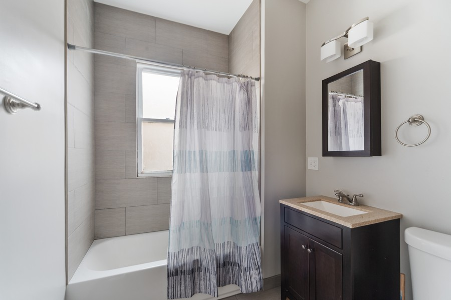 Real Estate Photography - 3832 North Central Park, Chicago, IL, 60618 - Second Floor Bathroom