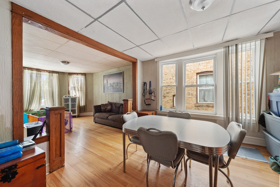 Real Estate Photography - 3832 North Central Park, Chicago, IL, 60618 - Second Floor Dining Room