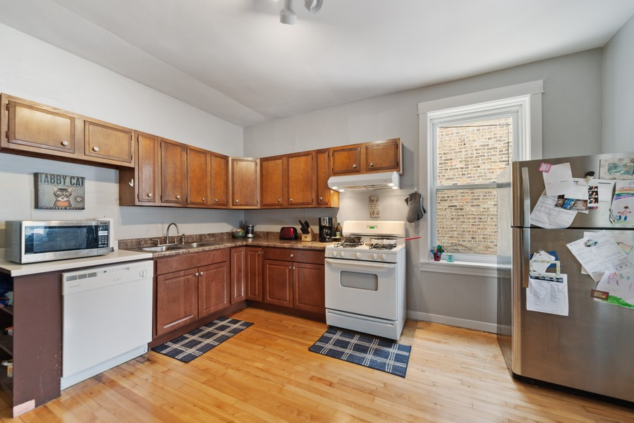 Real Estate Photography - 3832 North Central Park, Chicago, IL, 60618 - First Floor Kitchen