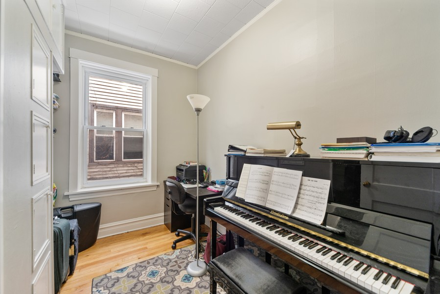 Real Estate Photography - 3832 North Central Park, Chicago, IL, 60618 - First Floor Third Bedroom