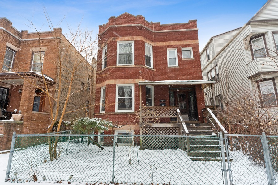 Real Estate Photography - 3832 North Central Park, Chicago, IL, 60618 - Front View