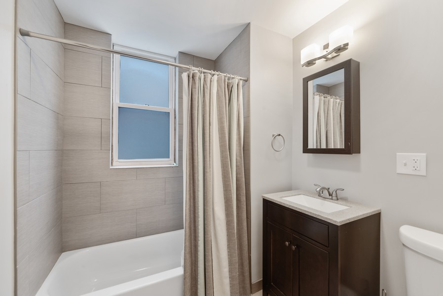 Real Estate Photography - 3832 North Central Park, Chicago, IL, 60618 - First Floor Bathroom