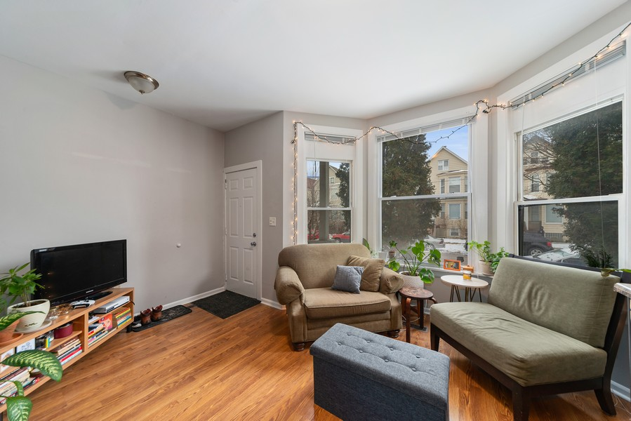 Real Estate Photography - 2706 N. Ridgeway, Chicago, IL, 60625 - First Floor Living Room