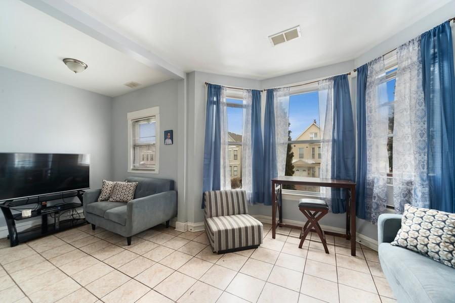 Real Estate Photography - 2706 N. Ridgeway, Chicago, IL, 60625 - Second Floor Living Room