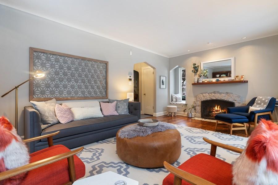Real Estate Photography - 2501 Ridgeway Avenue, Evanston, IL, 60201 - Living Room