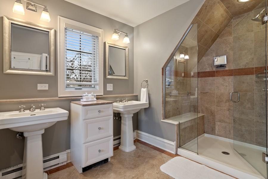 Real Estate Photography - 2501 Ridgeway Avenue, Evanston, IL, 60201 - Master Bathroom