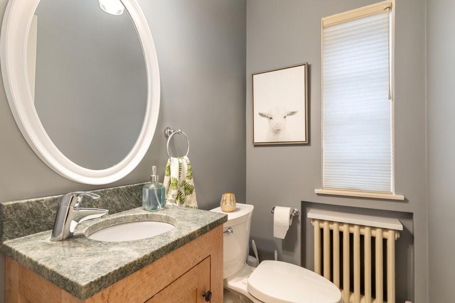 Real Estate Photography - 2501 Ridgeway Avenue, Evanston, IL, 60201 - Half Bath