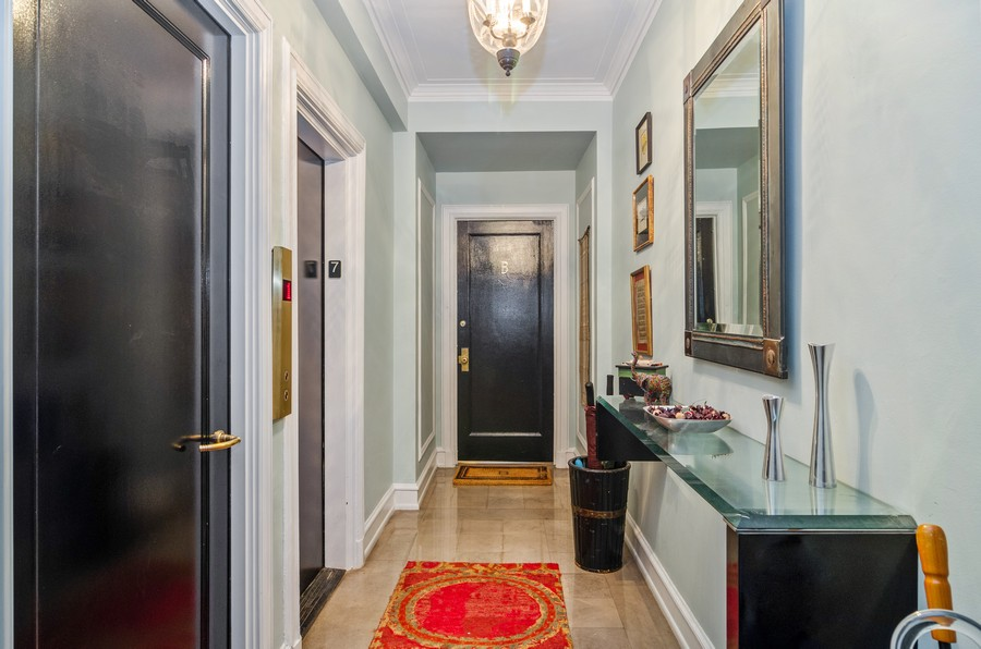 Real Estate Photography - 237 E Delaware Pl, Unit 7B, Chicago, IL, 60611 - Entrance Foyer - Only Two Units per Floor